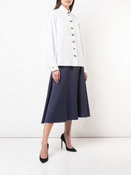 Carolina Herrera Buttoned Midi Skirt