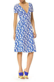 Carolina Herrera V-Neck Floral Dress