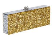 Edie Parker Flavia Gold Confetti Clutch