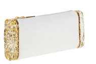 Edie Parker Soft Lara White Clutch