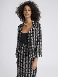 Oscar de la Renta Sequin Stripes Tweed Jacket
