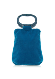 Edie Parker Velvet Grab Bag in Storm