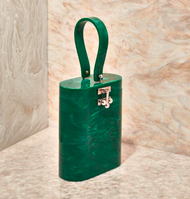 Edie Parker Oval Bag in Malachite