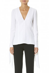 Carolina Herrera Tie Cuff Blouse In White