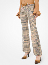 Michael Kors Plaid Wool Trousers