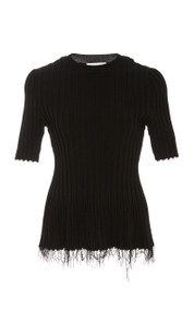 Altuzarra Novello Black Knit Top
