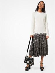 Michael Kors Cotton & Cashmere Distressed Sweater