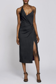 Cushnie Wrap Effect Slip Dress