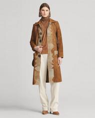 Ralph Lauren Collection Milez Distressed Suede Coat
