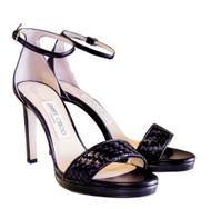 Jimmy Choo Misty 100 Woven Open Toe Sandal