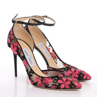 Jimmy Choo Lucy Embroidered Flower Lace Pumps