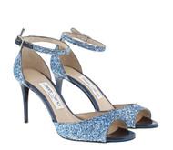 Jimmy Choo Annie Metallic Glitter Sandal
