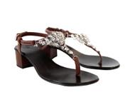 Giuseppe Zanotti Brown Rock Crystal Sandal