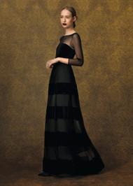 Chiara Boni La Petite Robe Fuldy Velvet Illusion Gown