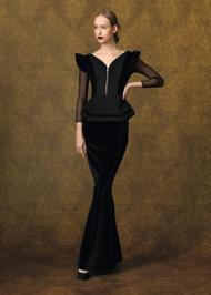 Chiara Boni La Petite Robe Kizza Velvet Illusion Gown