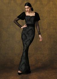 Chiara Boni La Petite Robe Ilde Velvet Gown in Hermitage