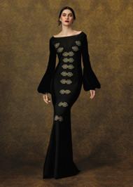 Chiara Boni La Petite Robe Jitka Embroidered Velvet Gown