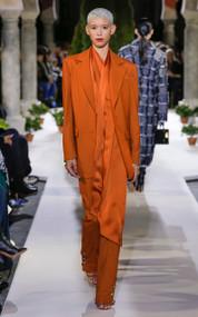 Oscar de la Renta Button Embellished Wool Pants