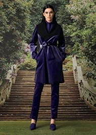 Chiara Boni La Petite Robe Milai Velvet Coat