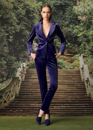 Chiara Boni La Petite Robe Saliha Velvet Blazer
