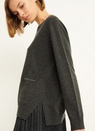 Fabiana Filippi Wool Blend Sweater in Onyx