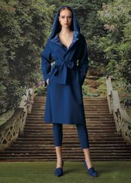 Chiara Boni La Petite Robe Lizeth Velvet Wrap Coat