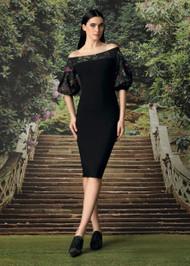Chiara Boni La Petite Robe Elke Dress in Brocade Verde
