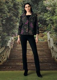 Chiara Boni La Petite Robe Mony Jacket in Brocade Verde