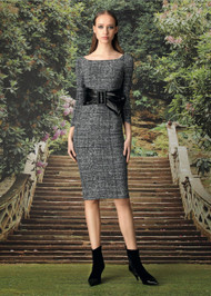 Chiara Boni La Petite Robe Thayna Cocktail Dress in Tweed