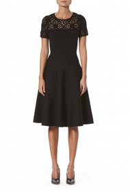 Carolina Herrera Macramé Midi Dress