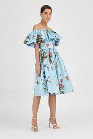 Oscar de la Renta Floral Poplin Dress