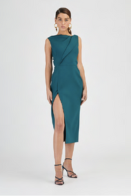 Oscar de la Renta Peacock Pencil Dress