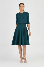 Oscar de la Renta Crochet Cocktail Dress