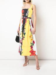 Oscar de la Renta Pleated Floral Dress