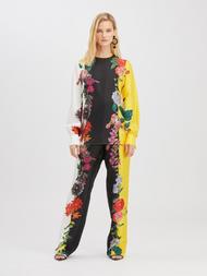 Oscar de la Renta Floral Silk Twill Blouse