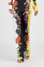 Oscar de la Renta Floral Pants