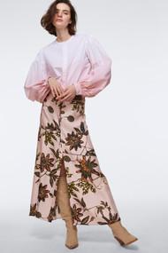 Dorothee Schumacher Powerful Flora Silk Midi Skirt