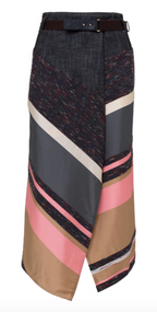 Dorothee Schumacher Energetic Lines Asymmetrical Belted Skirt