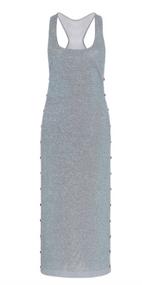 Cushnie Metallic Jersey Dress