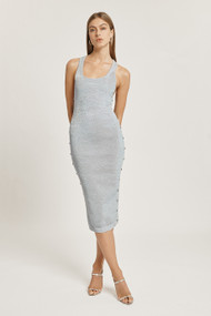 Cushnie Metallic Jersey Dress