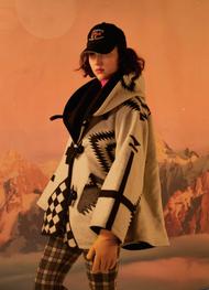 Lindsey Thornburg Pendleton Los Ojos Cloak - White Shearling