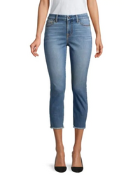 JEN7 by 7 For All Mankind Fray Hem Crop Skinny Jeans
