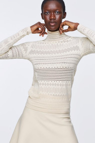 Dorothee Schumacher Sleek Sophistication Knit Turtleneck in Banana White