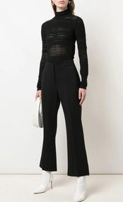 Dorothee Schumacher Sleek Sophistication Knit Turtleneck in Pure Black