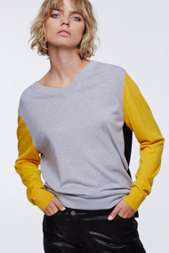 Dorothee Schumacher Colorful Essential Colorblock Knit Sweater