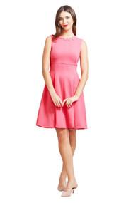 Lela Rose Wave Trim Sleeveless Dress