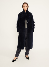 Fabiana Filippi Shawl Collar Shearling Overcoat