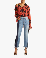 Hellessy Distressed Pinstripe Holbourne Jeans