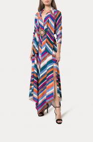 Altuzarra Newberry Stripe Print Silk Top