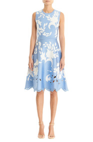 Carolina Herrera Floral Jacquard Sleeveless Dress
